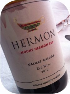 2012 Golan Heights Winery, Mount Hermon Red, Israel