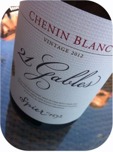 2012 Spier Wines, 21 Gables Chenin Blanc, Stellenbosch, Sydafrika
