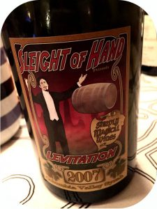 2007 Sleight of Hand Cellars, Levitation Syrah, Washington State, USA