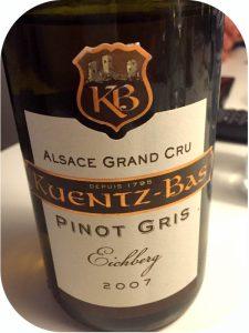 2007 Kuentz-Bas, Pinot Gris Grand Cru Eichberg Trois Chateaux, Alsace, Frankrig