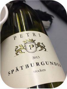 2013 Weingut Petri, Spätburgunder, Pfalz, Tyskland