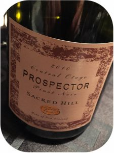 2010 Sacred Hill Vineyards, Prospector Pinot Noir, Central Otago, New Zealand