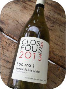 2014 Clos des Fous, Chardonnay Locura 1, Cachapoal Valley, Chile