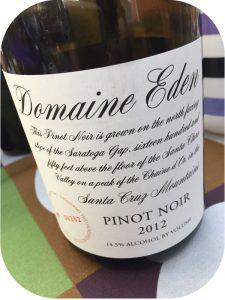 2012 Domaine Eden, Pinot Noir, Californien, USA
