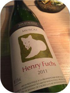 2011 Henry Fuchs et Fils, Muscat, Alsace, Frankrig