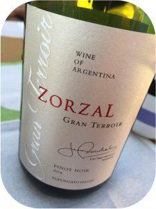 2014 Zorzal Wines, Gran Terroir Pinot Noir, Mendoza, Argentina