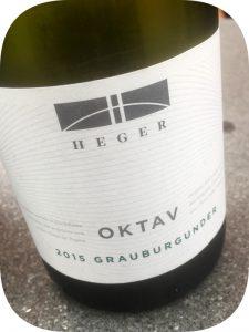 2015 Weingut Dr. Heger, Oktav Grauburgunder, Baden, Tyskland