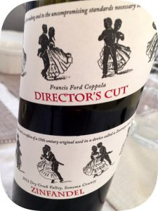 2012 Francis Ford Coppola Winery, Director's Cut Zinfandel, Californien, USA