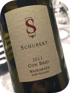 2011 Schubert Wines, Con Brio, Wairarapa, New Zealand