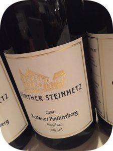 2014 Weingut Günther Steinmetz, Kestener Paulinsberg Pinot Noir Unfiltriert, Mosel, Tyskland