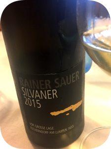 2015 Weingut Rainer Sauer, Escherndorfer am Lumpen 1655 Silvaner Großes Gewächs, Franken, Tyskland