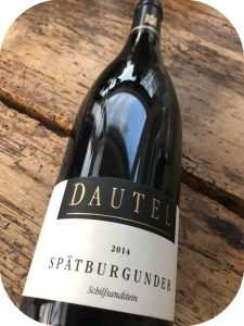 2014 Weingut Dautel, Cleebronner Spätburgunder Schilfsandstein Trocken, Württemberg, Tyskland