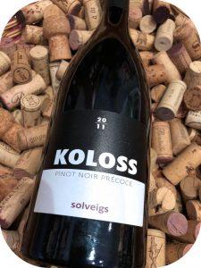 2011 Weingut Solveigs, Koloss Pinot Noir Précoce, Rheingau, Tyskland
