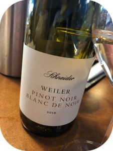 2016 Weingut Schneider, Weiler Pinot Noir Blanc de Noirs, Baden, Tyskland
