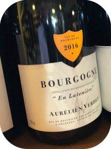 2016 Domaine Aurélien Verdet, Bourgogne En Lutenière, Bourgogne, Frankrig