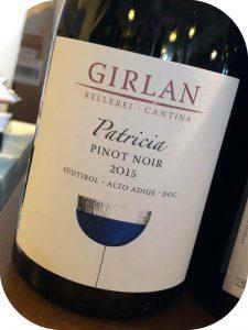 2015 Kellerei Girlan, Patricia Pinot Noir, Alto Adige, Italien