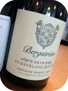 2015 Bergström Wines, Cumberland Reserve Pinot Noir, Oregon, USA