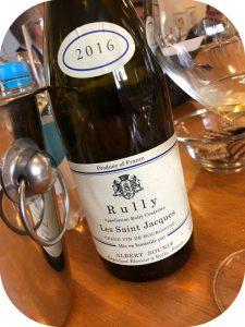 2016 Albert Sounit, Rully Blanc Les Saint Jacques, Bourgogne, Frankrig