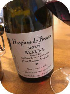 2015 Albert Sounit, Beaune 1. Cru Rousseau-Deslandes Hospice de Beaune, Bourgogne, Frankrig