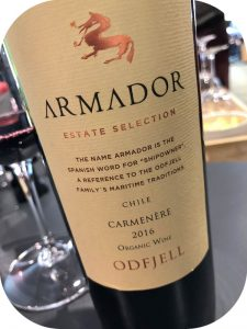 2016 Odfjell Vineyards, Armador Carmenère, Maipo Valley, Chile