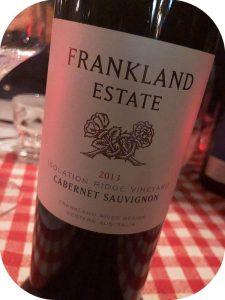 2013 Frankland Estate, Isolation Ridge Vineyard Cabernet Sauvignon, Western Australia, Australien