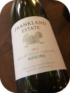 2012 Frankland Estate, Netley Road Vineyard Riesling, Western Australia, Australien
