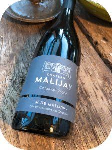 2016 Château Malijay, M de Malijay Côtes du Rhône, Rhône, Frankrig