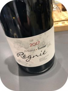 2017 Antoine Sunier, Regnié, Bourgogne, Frankrig