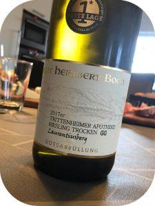 2017 Weingut Heribert Boch, Trittenheimer Apotheke Riesling Trocken GG Laurentiusberg, Mosel, Tyskland