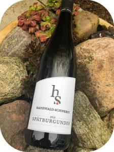 2016 Weingut Hanewald-Schwerdt, Spätburgunder, Pfalz, Tyskland