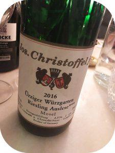 2016 Weingut Jos. Christoffel jr., Ürziger Würzgarten Riesling Auslese ***, Mosel, Tyskland