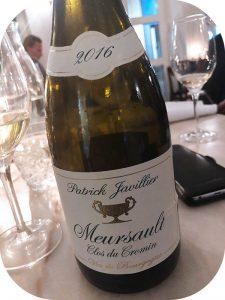 2016 Patrick Javillier, Meursault Clos du Cromin, Bourgogne, Frankrig