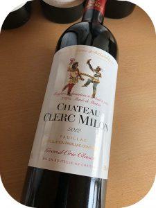 2012 Château Clerc Milon, Pauillac 5. Grand Cru Classé, Bordeaux, Frankrig