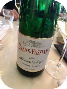 2016 Weingut Grans-Fassian, Mineralschiefer Riesling Trocken, Mosel, Tyskland