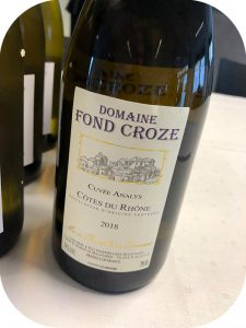 2018 Domaine Fond Croze, Côtes-du-Rhône Cuvée Analys, Rhône, Frankrig