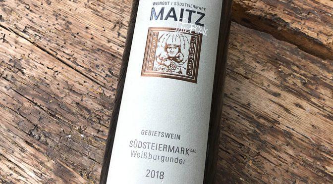 2018 Weingut Wolfgang Maitz, Südsteiermark Weißburgunder, Südsteiermark, Østrig