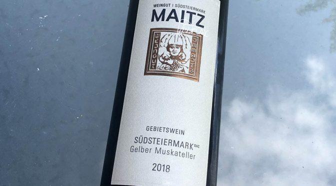 2018 Weingut Wolfgang Maitz, Südsteiermark Gelber Muskateller, Südsteiermark, Østrig