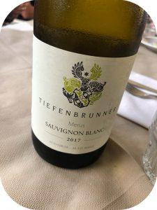 2017 Tiefenbrunner Schlosskellerei Turmhof, Merus Sauvignon Blanc, Alto Adige, Italien