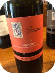 2015 Parusso, Barolo Mariondino, Piemonte, Italien