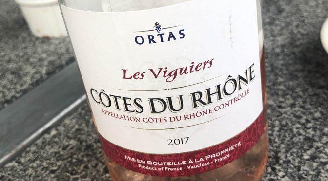 2017 Ortas Cave de Rasteau, Côtes-du-Rhône Les Viguiers Rosé, Rhône, Frankrig