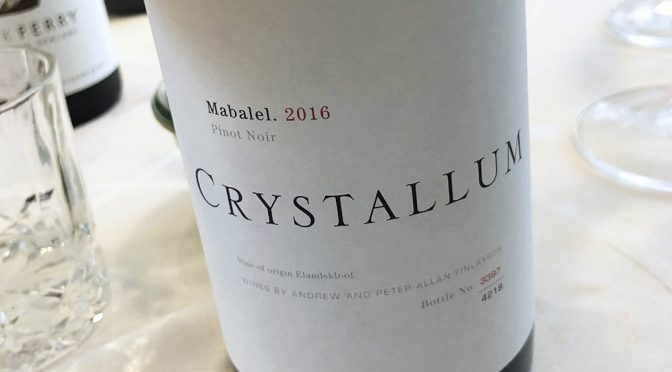 2016 Crystallum Wines, Mabalel Pinot Noir, Western Cape, Sydafrika