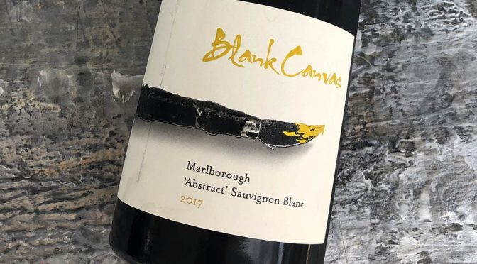2017 Blank Canvas, Abstract Sauvignon Blanc, Marlborough, New Zealand