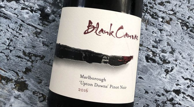 2016 Blank Canvas, Upton Downs Pinot Noir, Marlborough, New Zealand