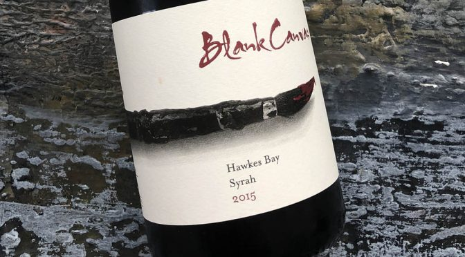 2015 Blank Canvas, Syrah, Hawkes Bay, New Zealand