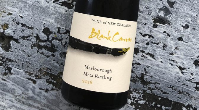 2018 Blank Canvas, Meta Riesling, Marlborough, New Zealand
