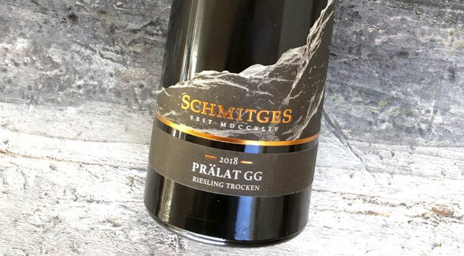 2018 Weingut Schmitges, Erdener Prälat Riesling GG, Mosel, Tyskland
