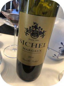 2016 Maison Sichel, Margaux Sichel, Bordeaux, Frankrig