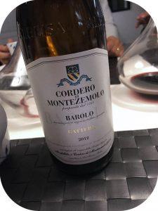2012 Cordero di Montezemolo, Barolo Bricco Gattera, Piemonte, Italien