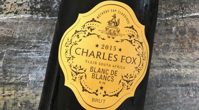 2015 Charles Fox Cap Classique Estate, Blanc de Blancs, Western Cape, Sydafrika