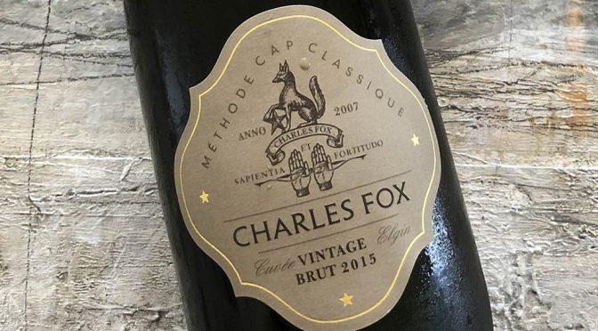 2015 Charles Fox Cap Classique Estate, Vintage Brut, Western Cape, Sydafrika